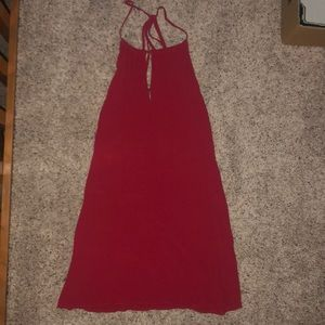 Halter red dress with straps in back!